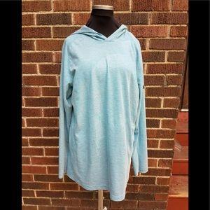 Nike Dry Fit Hoodie Blue Large